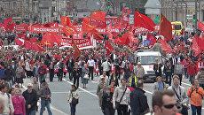 От демонстрации до маевки: акции парламентской оппозиции в Москве 1 мая
