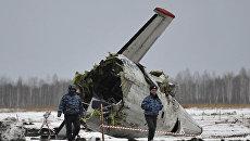 Ситуация на месте крушения самолета ATR-72 под Тюменью. Архив