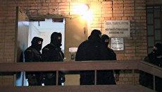 Оперативная съемка с места перестрелки с бандитами в Химках