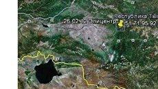 Карта землетрясения в Туве