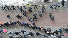 Акция Белый круг в Москве