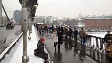 Акция Живая цепь на Садовом кольце в Москве