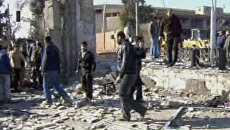 Жители разбирают завалы и спасают раненых в результате взрывов в Дамаске