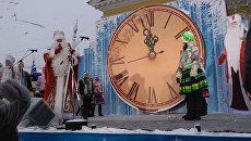 Всероссийский Дед Мороз зажег новогоднюю елку в Костроме