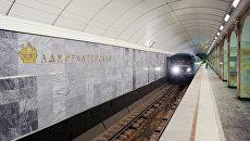 Подготовка к открытию станции метро Адмиралтейская. Архивное фото