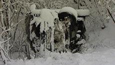 Пришедшие на Колыму мощные снегопады вызвали десятки автоаварий
