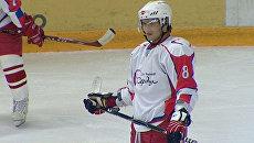 Дмитрий Сычев и Марат Сафин сыграли в хоккей с Овечкиным и Ковальчуком