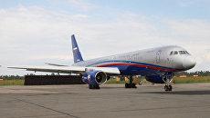 Самолет Ту-214 ОН авиационной системы наблюдения «Открытое небо»