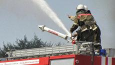 Взрыв и крупный пожар произошли на складе пиротехники в пригороде Бишкека