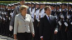 Президент РФ Медведев и канцлер Германии Меркель