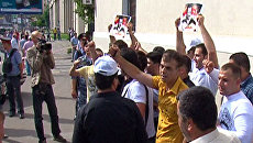 Выходцы из Сирии поддержали президента Асада акцией в Москве