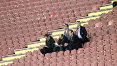 Сборная Сербии по футболу играла с командой Ирландии при пустых трибунах