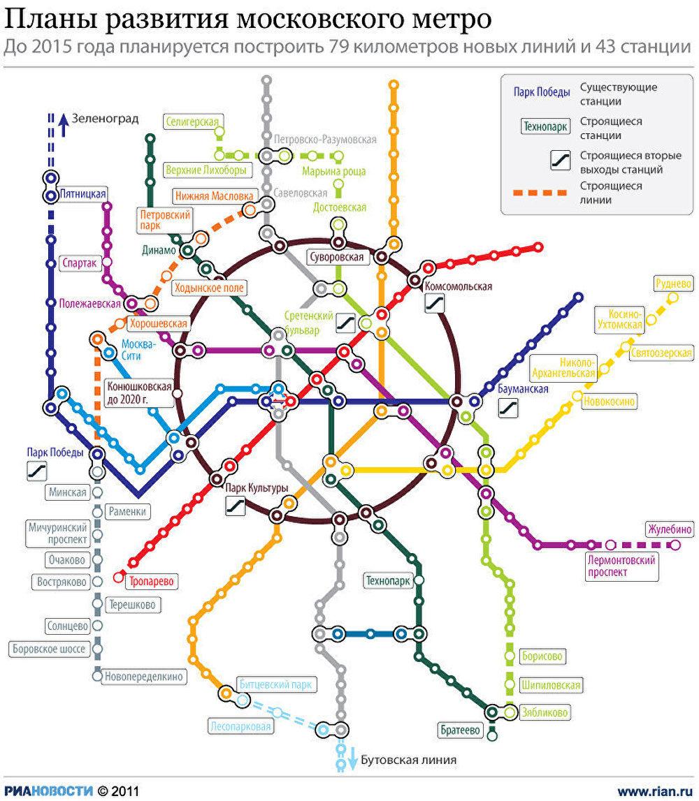 Планы развития московского метро