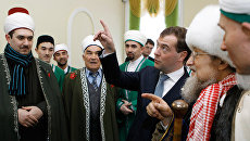 Дмитрий Медведев посетил первую уфимскую соборную мечеть