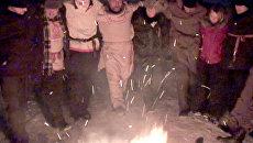 Танцами вокруг костра и запуском салютов встретили новый год родноверы
