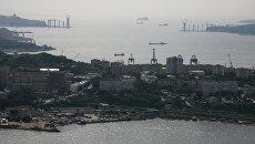 Строительство объектов на остров Русский в рамках подготовки к саммиту АТЭС-2012