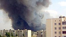 Лесной пожар в Нововоронеже рядом с городской котельной