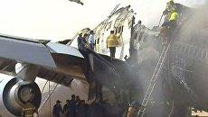 Самолет Lufthansa развалился надвое при посадке