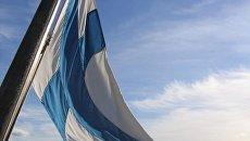 Флаг Финляндии. Архивное фото