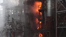 На месте происшествия: пожары на заводах и ДТП с участием 46 машин