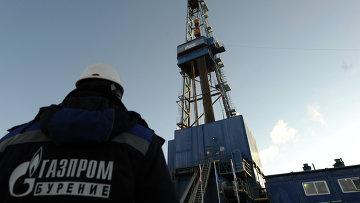 Газовая буровая установка Газпрома, архивное фото