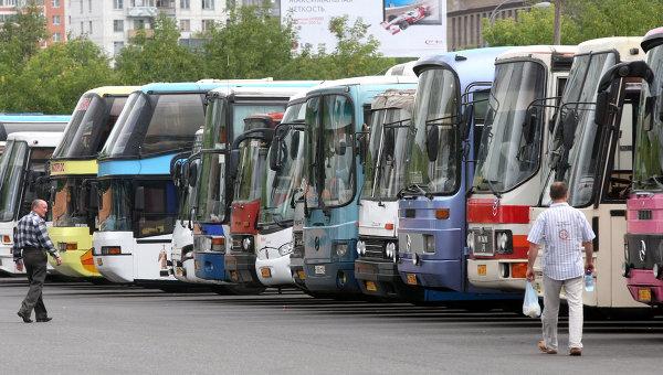 Работа автобусов в Москве. Архив