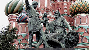 Памятник Минину и Пожарскому, архивное фото