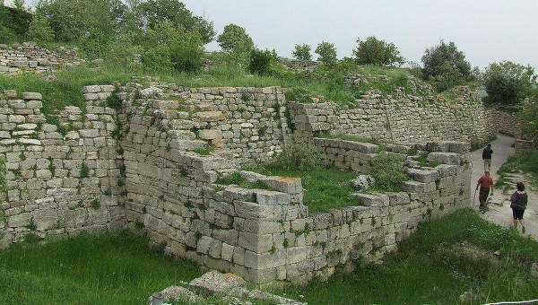 Руины Трои в Турции
