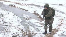 Разведчики в экипировке солдата будущего атаковали условного противника
