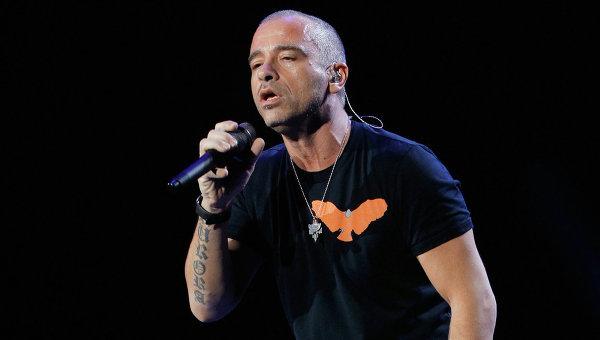 Итальянский певец Эрос Рамаззотти. Архивное фото