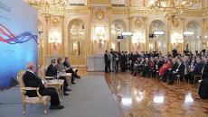 В.Путин и А.Меркель на XII форуме Петербургский диалог. Архивное фото