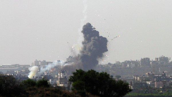 Сектор Газа после авиаудара со стороны Израиля