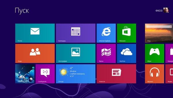 Windows 8. Плиточный режим