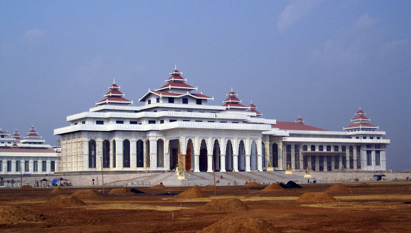 Здание парламента Мьянмы в Нейпьидо. Архивное фото