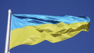Флаг Украины, архивное фото.