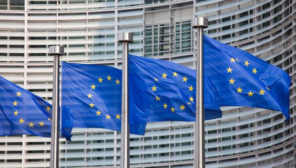 Флаги Евросоюза. Архивное фото.