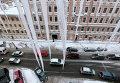 Гигантские сосульки на крышах Санкт-Петербурга