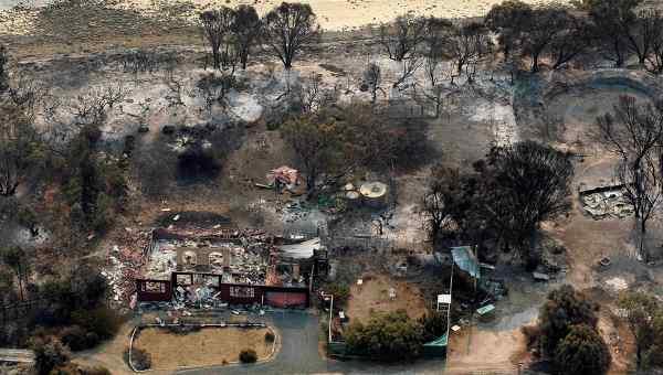 Последствия лесных пожаров в Тасмании