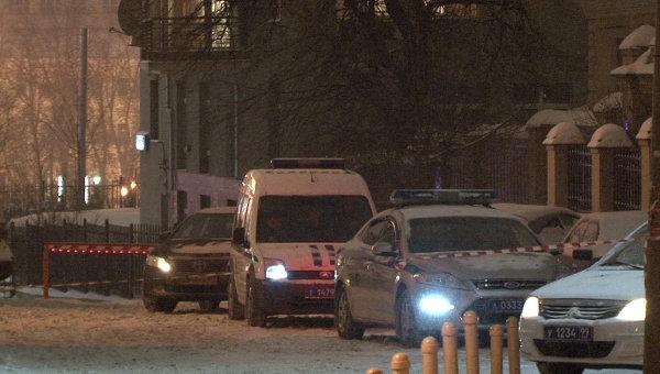 Место нападения на худрука Большого театра Сергея Филина