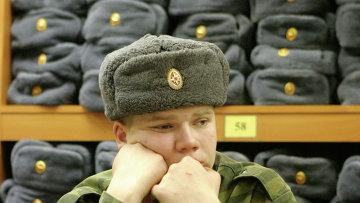 Склад военного обмундирования на призывном пункте