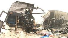 Раскуроченный автобус и разбросанные вещи паломников – ДТП под Самарой
