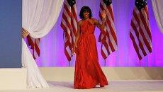 Мишель Обама на инаугурационном балу Главнокомандующего