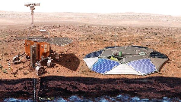 Марсоход и посадочная платформа европейско-российской миссии ЭкзоМарс