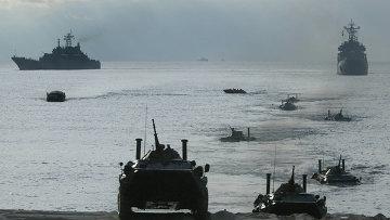Учения Балтийского флота. Архивное фото