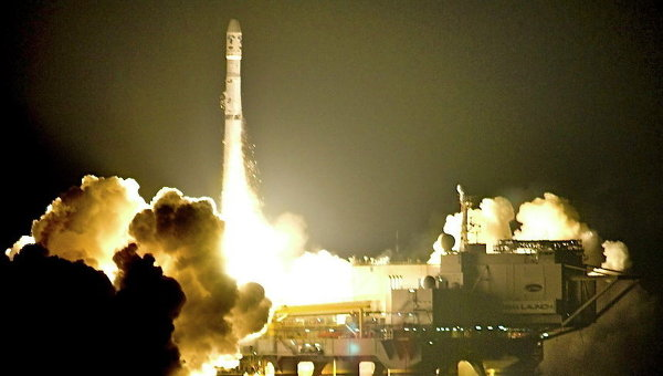 Запуск ракеты Зенит со стартовой платформы ODYSSEY