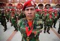 Военный парад в честь 21-ой годовщины попытки возглавленного Уго Чавесом государственного переворота в Каракасе