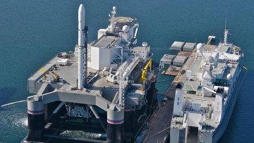 Платформа для запуска ракет в рамках программы Морской старт. Архивное фото