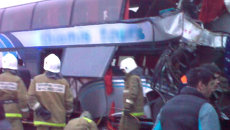 Автобус и грузовик столкнулись под Волгоградом. Первые кадры с места ДТП