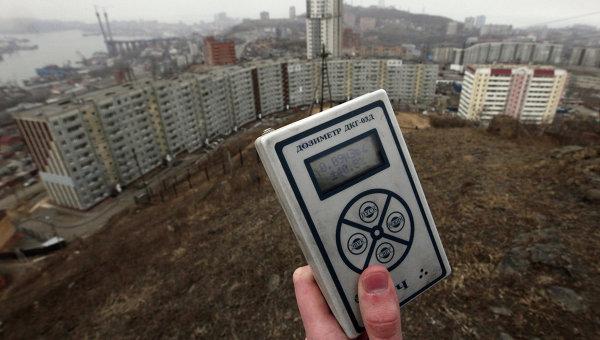 Замер радиационного фона, архивное фото