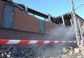 Разрушения на цинковом заводе в Челябинске после падения космического объекта
